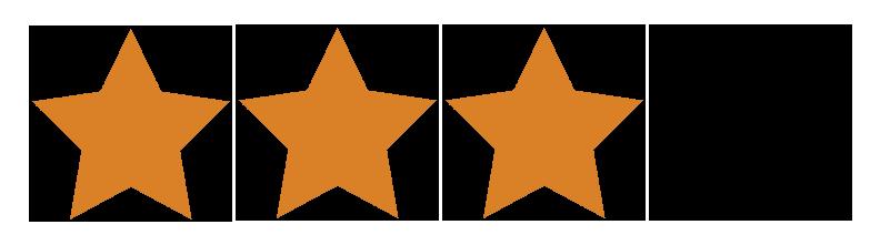 3.0 stars